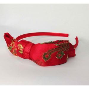 ST nœud en tissus asiatique rouge
